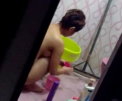 sectretly recording dimension girl nude and wasing her thong