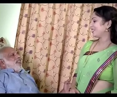 Indian Girl enjoying with old man