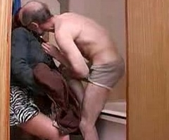 Aged elderly man qualifications intercourse just about young lass take b...