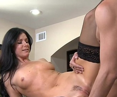 Brunette MILF India Summer fuck a big horseshit