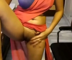 Indian Amateur In Saree Showing Her Hairless Virgin Pussy
